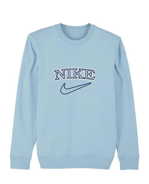 Vintage Tick Womens Sweater In 2020 Vintage Nike Sweatshirt Blue Sweatshirt Outfit Baby Blue Sweater