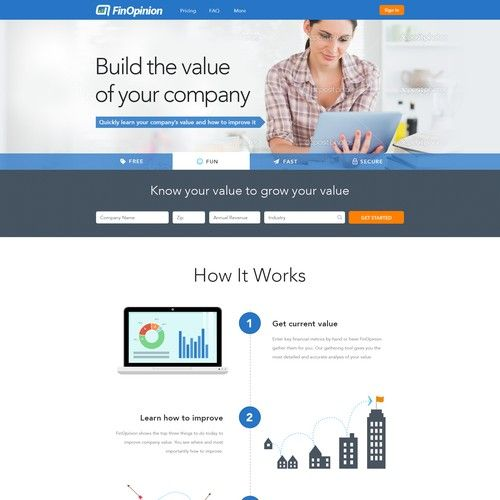 Business Valuation Tool We Provide Small Business Owners A Free Tool To Determine Their Business Value As Well Business Valuation Page Design Webpage Template
