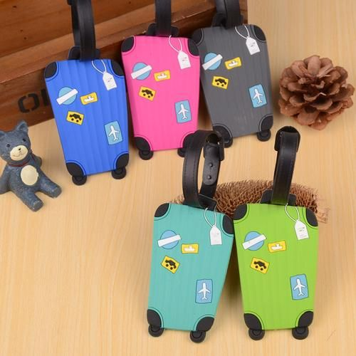 Anime Spirited Away Leather Luggage Tag Travel ID Label For Baggage Suitcase