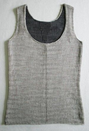 Natural fiber tank in size 2 and 3 needles. The Purl Bee.