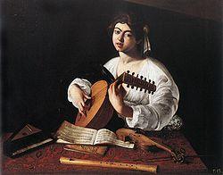 Caravage Le joueur de luth (3° version) 1596