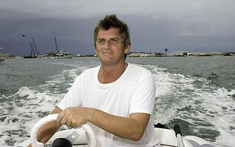 Mike Oldfield on his speedboat off the island of Bimini - Mike Oldfield interview for the re-release of Tubular Bells