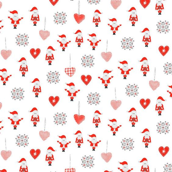 Curtains Ideas christmas curtain fabric : SANTA Christmas Metallic christmas DIGITAL Cotton Print upholstery ...