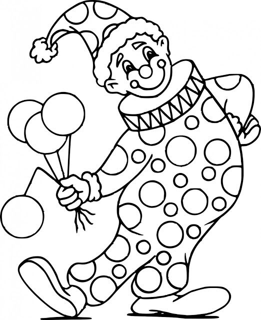 malvorlagen clown online  tiffanylovesbooks
