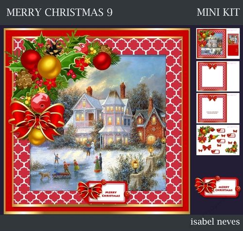 Merry Christmas 9 By Isabel Neves Merry Christmas Mini Kit
