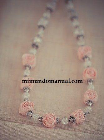 Rosas decorativas para collares de moda
