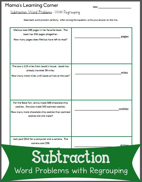 Subtraction Worksheets : subtraction worksheets 2nd grade word ...