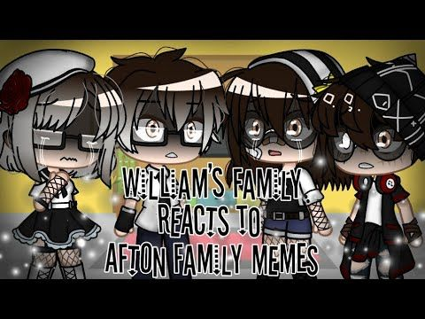 William S Family Reacts To Afton Family Memes Youtube Afton Cute Disney Drawings Anime Wolf Girl