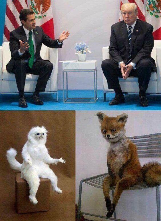 When the president of México met Trump