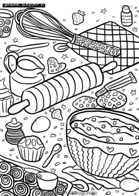 Optimimm Free Coloring Web Page About Baking Free Coloring For Baking Pages Lovesmag Com Food Coloring Pages Coloring Pages Abstract Coloring Pages