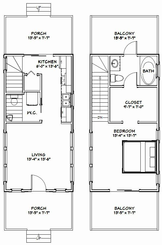 14 X 28 House Plans Inspirational 14x28 Tiny House 14x28h6d 749 Sq Ft Excellent Floor In 2020 Luxury Floor Plans House Plans House Floor Plans
