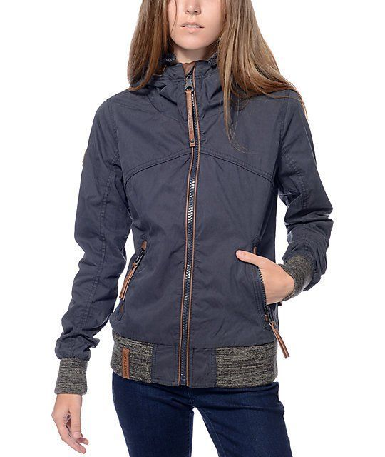 The Pallaverolle dark blue jacket by Naketano is the perfect