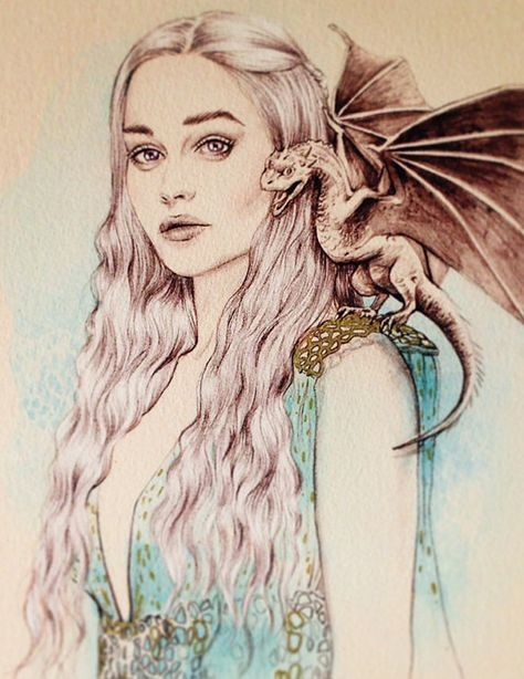 Mother of Dragons, Game of Thrones, Daenerys Targaryen A3 Print