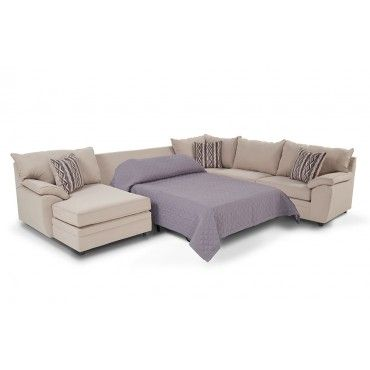 Sleeper sectional and Bobs on Pinterest