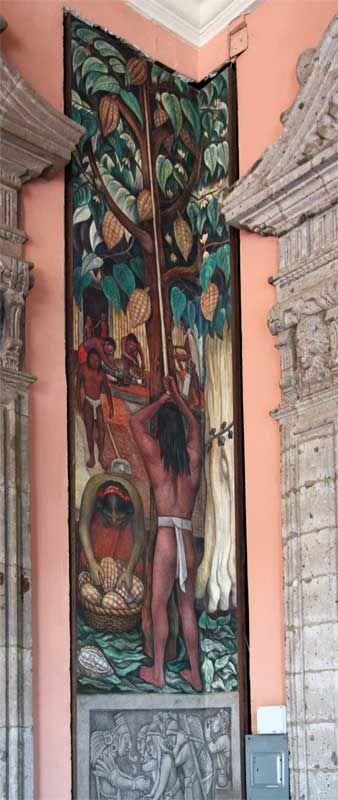 Diego rivera mural cocoa palacio nacional de mexico for Diego rivera mural new york