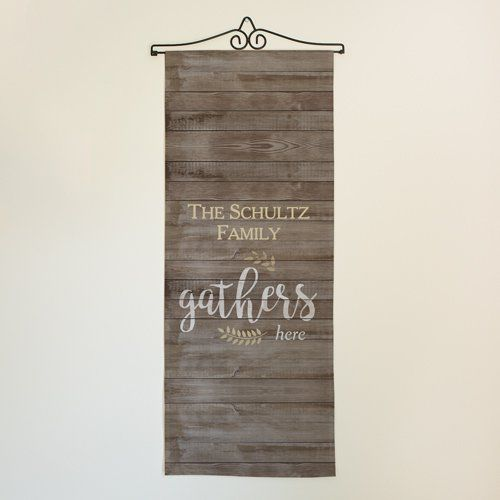 Personalized Family Gathers Here Wall Hanging Personalized Family Family Gathering Wall Hanging