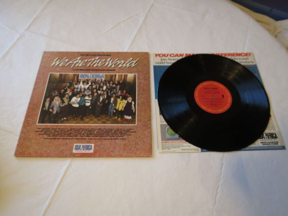 We Are The World Historic Recording USA for Africa 40043 LP record vinyl album*^