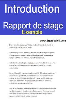 Introduction Rapport De Stage Modele Exemple Dissertation Francai