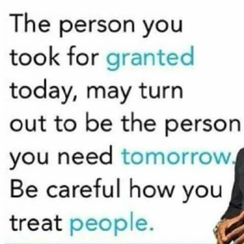 Careful with others