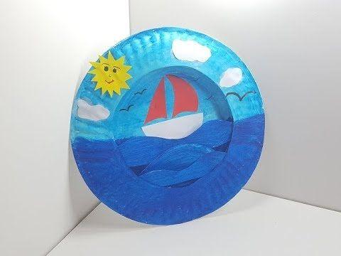 اعمال فنية بسيطة للاطفال باستعمال الصحون الورقية اشغال يدوية للاطفال Paper Crafts Diy Kids Diy For Kids Paper Crafts Diy