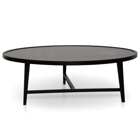 Joey 110cm Round Coffee Table Black With Images Coffee Table
