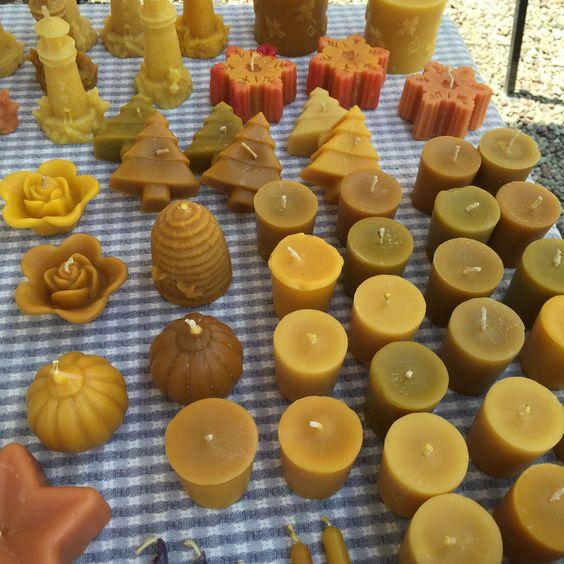 beeswax candles | Far Away Farm
