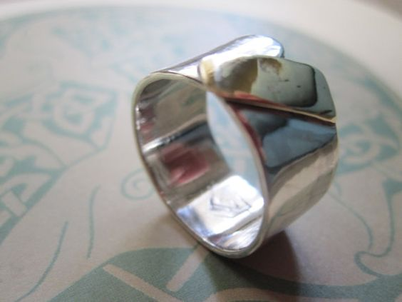Sterling and Gold Ring Handmade Metal by JudithGayleDesigns, $249.00