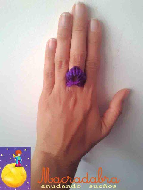 Anillo Purpura #macrame