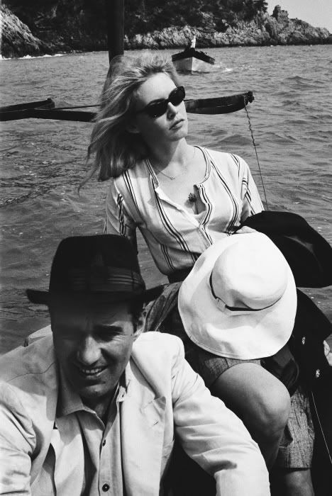 Brigitte Bardot and Michel Piccoli on the set of Le Mépris... - The Gifts Of Life