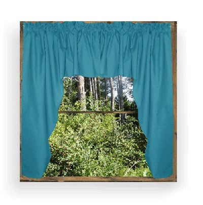 window curtains and valances | Dark Turquoise Swag Window Valance ...