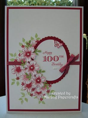 MaKing Papercrafts: Happy 100th!! - Stunning!