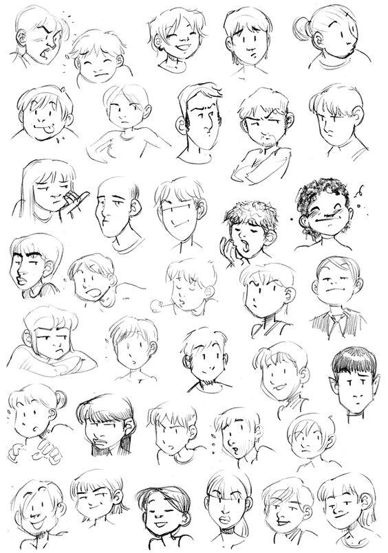 Exercice n°5: Expressions du visage - ○ Rough ○ - Webcomics.fr