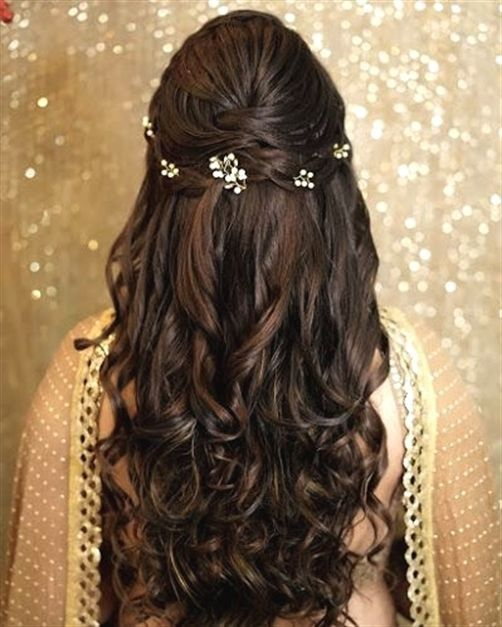 Hair Style Bridal Hairstyle Wedding Scattered Hairstyle Long Hair Half Up Half Down Hair Styles Long Hair Wedding Styles Wedding Hairstyles For Long Hair