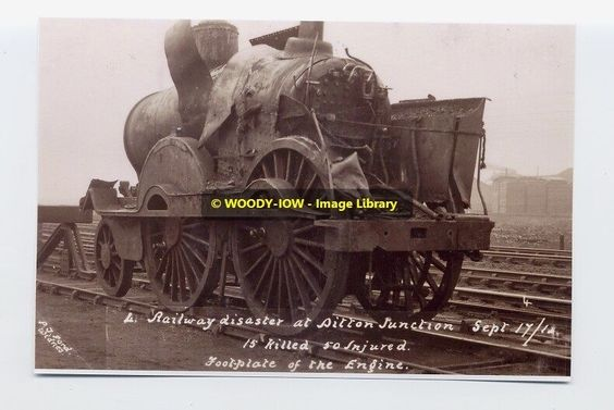 rp3102 - Railway Disaster at Ditton 1912 - photo 6x4