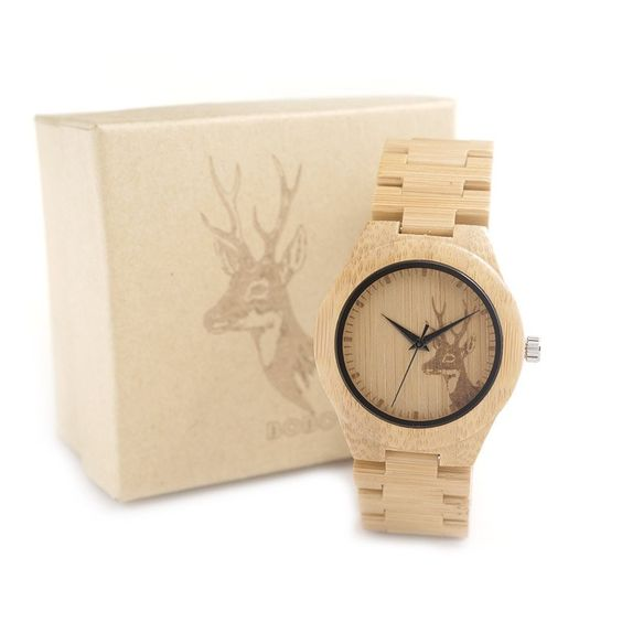 New Brand 37MM Women's Watches Full bamboo Wooden Watches Wood Strap Wristwatches for Women as Gifts Items