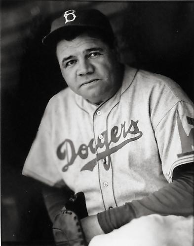 George Brace - Peter Fetterman  Babe Ruth, Retrato Dodger   sin fecha   de impresión en gelatina de plata
