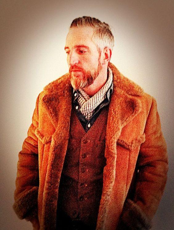 Men's fur coat, street wear, casual