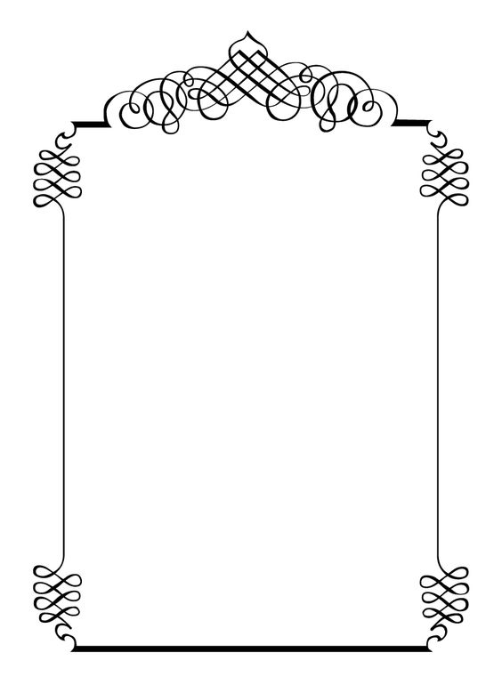 Free vintage clip art images Calligraphic frames and borders - free formal invitation template