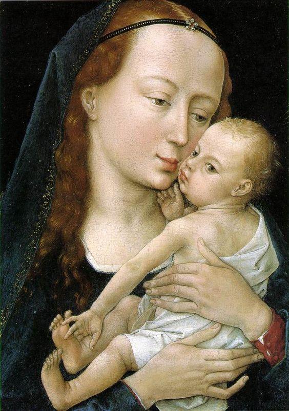 Virgin and Child by WEYDEN, Rogier van der #art: