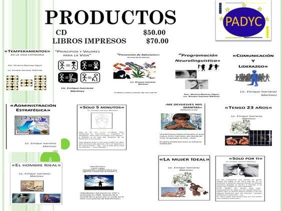 Catalogo de productos y servicios de Profesionales en Administración y Capital Humano.