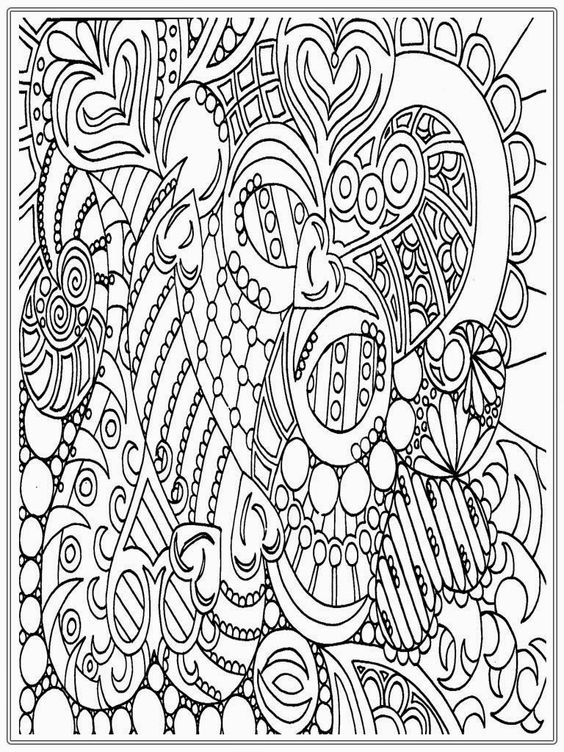 Heart And Flower Coloring Pages Adult
