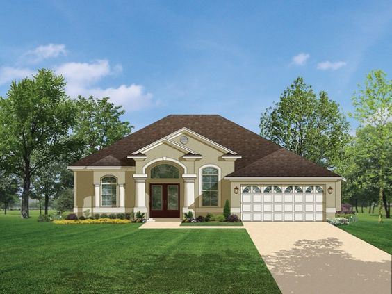 ePlans Mediterranean House Plan – Impressive Entry Leads To Open Living Space – 1623 Square Feet and 3 Bedrooms from ePlans – House Plan Code HWEPL76469