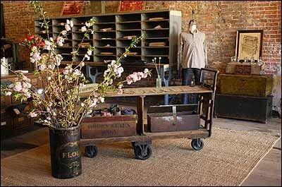 vintage industrial retail display