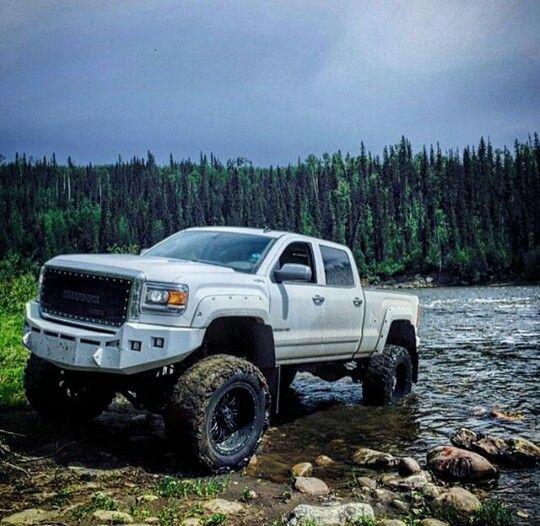 Lifted GMC 4x4 truck