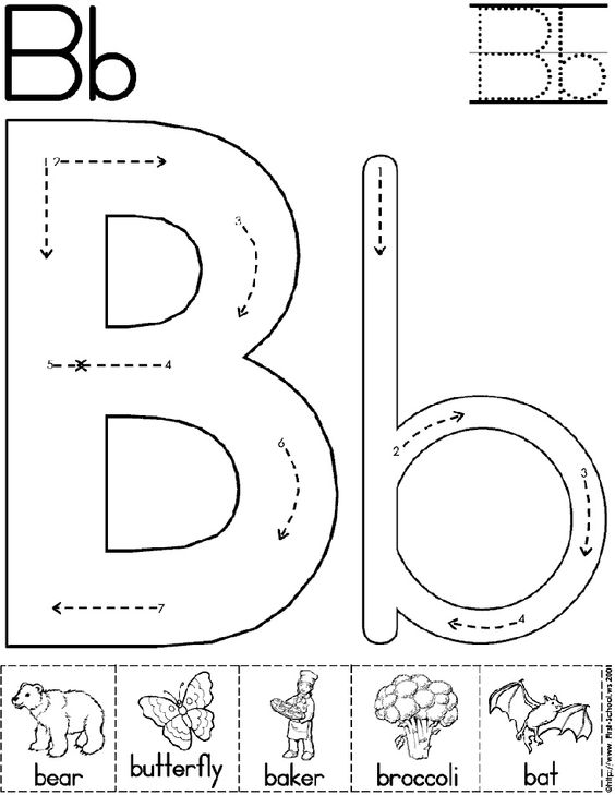 Printables Printable Abc Worksheets For Pre-k letter b preschool and alphabet on pinterest abc worksheet printable activity standard