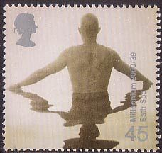 British Stamp 2000 - 45p, Bather (Bath Spa Project) from Millennium Projects (10th Series). 'Body and Bone' (2000)