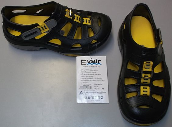 Shimano Evair Boat Shoes Black/yellow Size 6 *** Find out more about the great product at the image link.