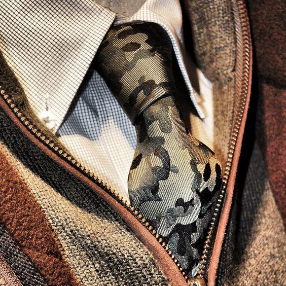 Fancy - Camo Necktie by Bull+Moose