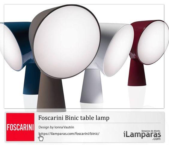#Foscarini #Binic by Ionna Vautrin - table #lamp - #lamps    https://ilamparas.com/foscarini/binic/  +iLamparas.com +Foscarini
