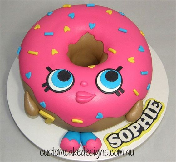 Shopkins D'lish Donut Cake  on Cake Central: